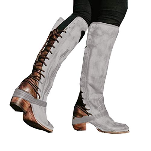 Winter Women Thermal Shoes,Women's Winter High Heel Long Boots Bandage High Ladies Boots Knee High Boots