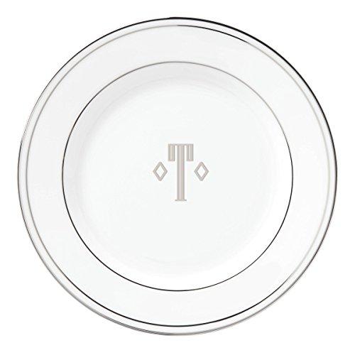 Lenox Federal Platinum Block Monogram Dinnerware Salad Plate T