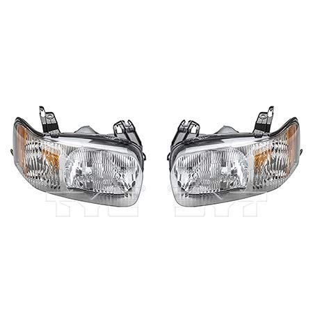 Fits 2001-2004 Ford Escape Headlight Driver and Passenger Side NSF Certified w/Bulbs FO2518103 FO2519103 - Replaces 4L8Z 13008 AB, 4L8Z 13008 AA ;
