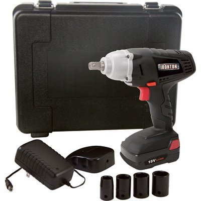 Ironton 18 Volt Lithium-Ion Impact Wrench - 1/2in. Anvil with Detent Pin