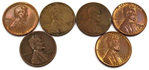1951 Various Mint Marks 1951 D 1952 D 1953 D 1954 S 1956 D 1958 D Lincoln Wheat Pennies FAIR