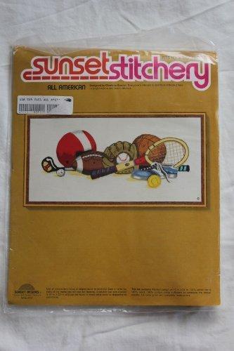 "Vintage 1976 Sunset Stitchery "" All American "" Designed by Charlene Gerrish"