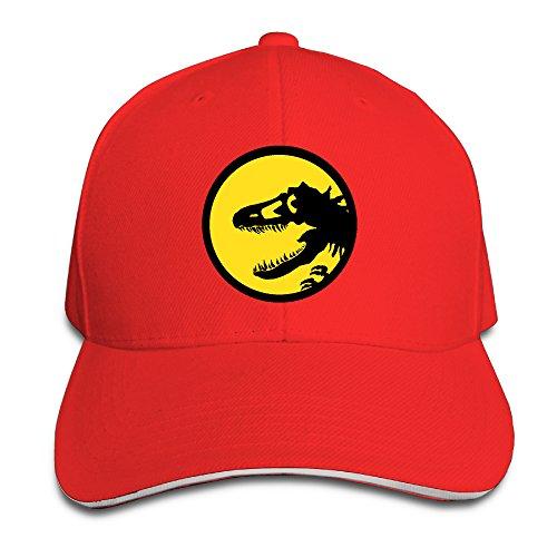 ACMIRAN Dinosaur Logo Adjustable Baseball Cap One Size Red
