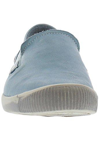 Softinos Damen Pompe Ita298sof Pastello Blu