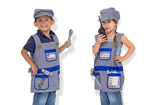 - Child Size Train Engineer Role Play Costume Set - Children 3-6 Years