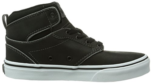 Vans Atwood Hi - Zapatillas para niños Schwarz ((Leather) Black L3N)