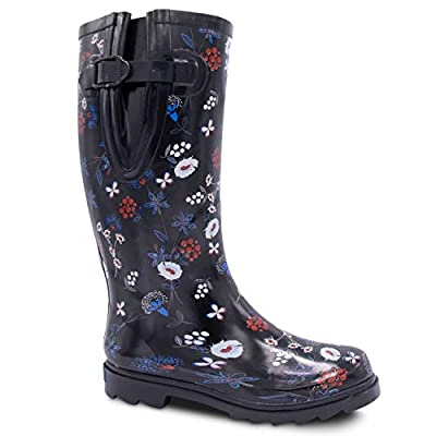 ZOOGS Extra Wide Calf Rubber Rain Boots Wide Foot and Ankle up to 20 Inch Calf