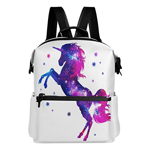 Amazon.com | ALAZA Galaxy Unicorn Casual Backpack Lightweight Travel Daypack Student School Bag | Kids Backpacks