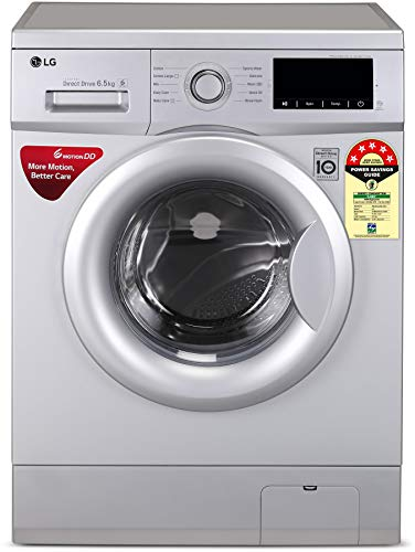 LG 6.5 Kg 5 Star Inverter Fully-Automatic Front Loading Washing Machine (FHM1065ZDL, Luxury Silver, Direct Drive…