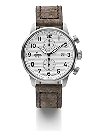 Laco Bern Two-Eye Chronograph Watch with 42mm Case and Corrugated Dial 861974