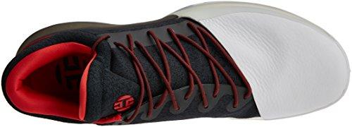 adidas Harden Vol. 1, Scarpe da Corsa Uomo, Nero (Negbas/Escarl/Ftwbla), 54 EU