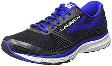 Brooks Men's Launch 3 Anthracite/Electric Blue Sneaker 8.5 D (M)