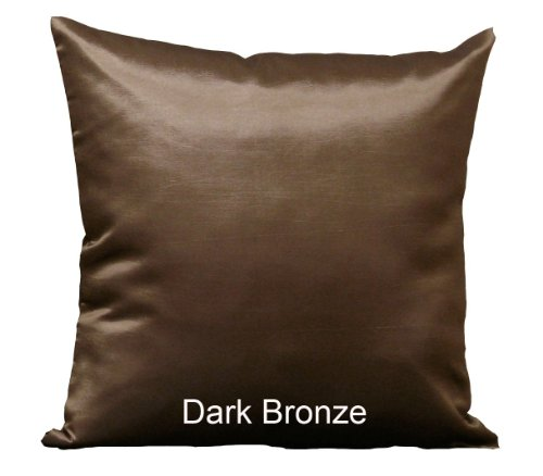 Bronze Pillow - GreenFloralCrafts - 1 Thai Silk Look 17