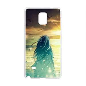 Cartoon Sunset Sea Love Story Phone Case for Samsung Galaxy Note4