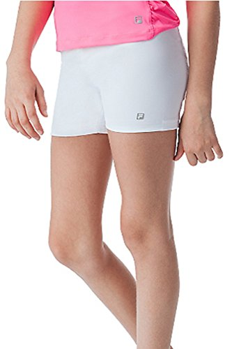 - Fila Girl's Ball Comfort Athletic Shorts XL, White