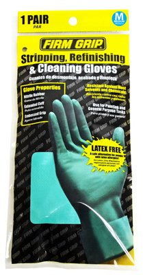 Big Time Products 13212-26 Gloves for Stripping, Refinishing & Cleaning, Nitrile Rubber, Medium