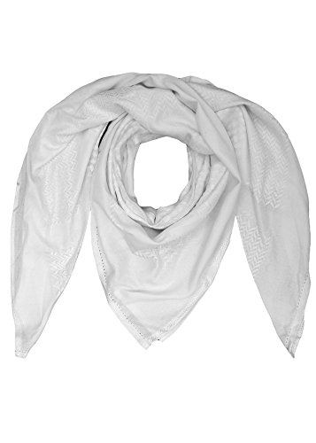 Merewill Premium Original Arabic Scarf 100% Cotton Shemagh Keffiyeh 49'x49' Arab Scarf White