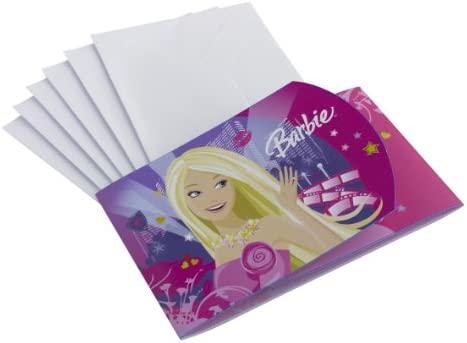 6 Tarjetas De Invitación De Barbie Amazon Es Juguetes Y Juegos