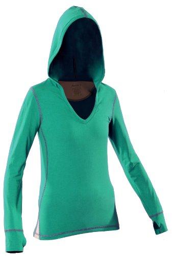 Women's Yoga Hoody (Large, Green) by KINISI(TM)