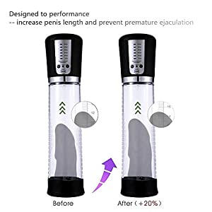 Penis Vacuum Air Pump Enlarger Enhancer Extender Erection Amplifier Tube Automatic USB Recharging for Men Masturbation Penisgrowth Pump Electric Penisextender Length Device for Men