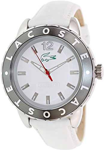 Lacoste Women's Club 2000667 White Leather Quartz Watch with White Dial