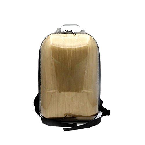For DJI Mavic Pro Hard Polished PC Shell Carrying Backpack Bag Case Waterproof Anti-Shock Box Bag Nacome (Gold) by Nacome