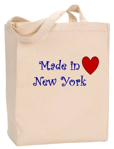 MADE IN NEW YORK - State Series - Natural Canvas Tote Bag with - Alex Giants Rodriguez