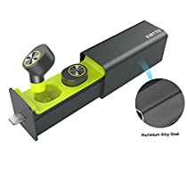 True Wireless Earbuds, KINTTO Mini Twin Cordless Hands-free Bluetooth Earbuds Built In Mic, Stereo Sound Sports Earpieces with 12 Hours Duration Charging Case for iPhone & Android Phone