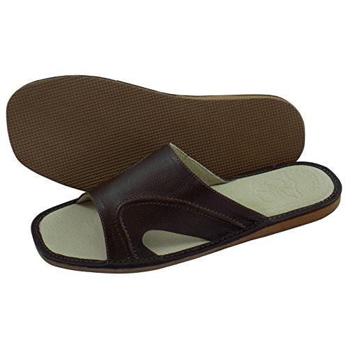 aveego - Zapatillas de estar por casa para hombre Brown (T4)