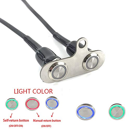- Universal Stainless Steel LED Motorcycle Switch ON-Off Handlebar Adjustable Mount Waterproof Switches Button DC12V Fog Light Cycling retail (Color : D-2)