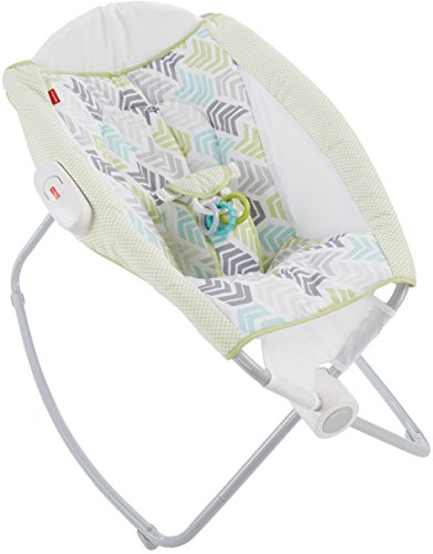 Fisher-Price Rock 'n Play Sleeper, Green/Blue/Grey