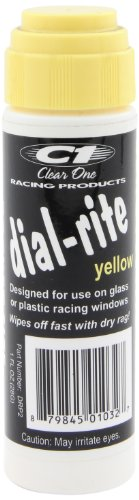 Dial Yellow Markers (Clear One DRP2 Dial-Rite Yellow Window Marker - 1 oz.)
