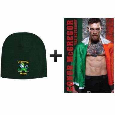 974875e1028 Image Unavailable. Image not available for. Color  Fighting Irish Beanie Hat    Notorious Conor McGregor ...