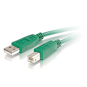 C2G 35669 USB Cable - USB 2.0 A Male to B Male Cable for Printers, Scanners, Brother, Canon, Dell, Epson, HP and more, Green (9.8 Feet, 3 Meters)