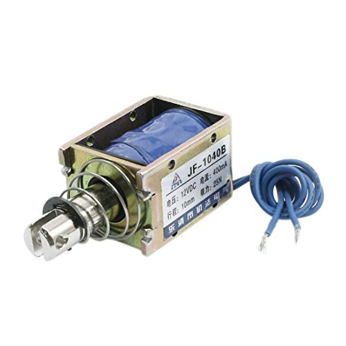 Uxcell DC12V 25N Force 2-Wires Pull Push Solenoid, Electromagnet, 10 mm Actuator