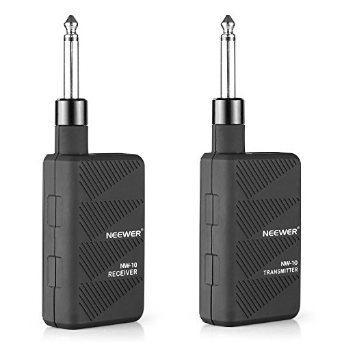 Neewer® Black 2.4GHZ Audio Wireless Digital Guitar Transmitter and Receiver with ()
