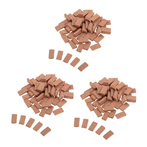 (Flameer 1/35 Scale Clay Red Bricks Model for Sand Armor Scenery Decoration 1.1X0.6cm )