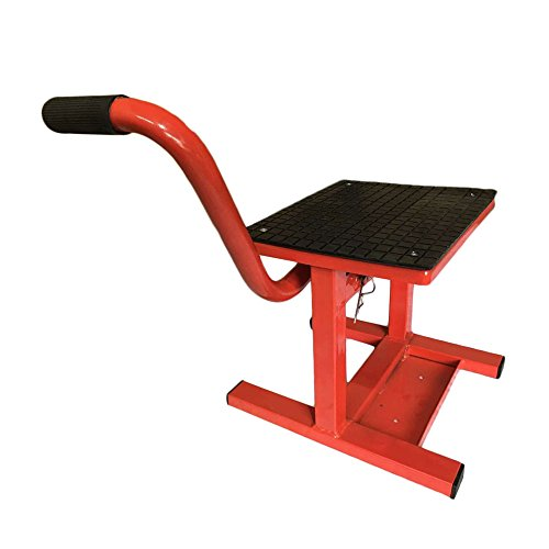 MILLION PARTS Adjustable Lift Jack Hoist Maintenance Stand Table3 30 LB for Dirt Bike Motorcycle Motocross Racing Offroad Red ()