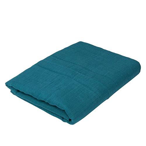 Oliver & Rain Baby Swaddle Blanket - Newborn 100% Organic Cotton Solid Dark Coral Teal Muslin Swaddle Blanket