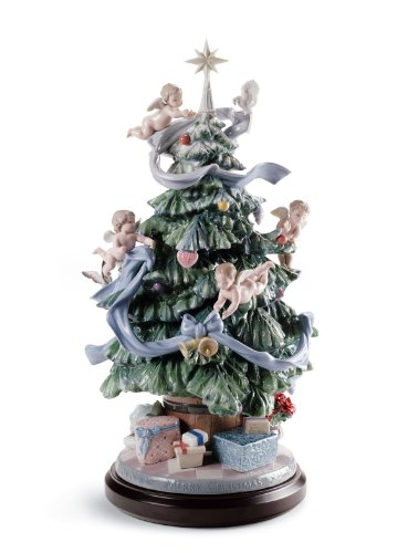 Lladro Porcelain Figurine Great Christmas Tree Limited Edition