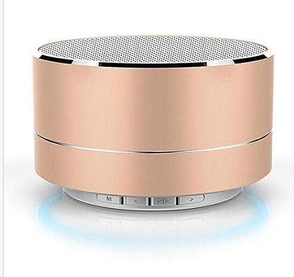 Wallfire Direct Altavoz inalámbrico Bluetooth portátil Super BASS estéreo sonido altavoz de viaje para Smartphone Tablet (dorado)