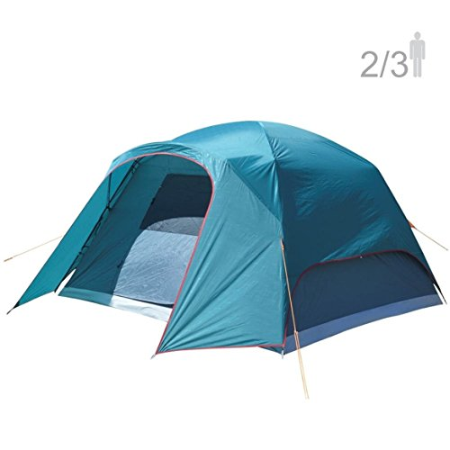 NTK Philly GT 2 to 3 Person 5 by 7 Foot Outdoor Dome Family Camping Tent 100% Waterproof 2500mm, Easy Assembly, Durable Fabric Full Coverage Rainfly, Micro Mosquito Mesh for Maximum Comfort