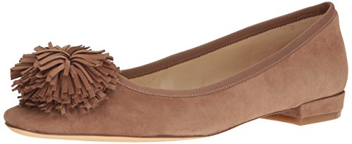 Crevette Nine Ballet West Natural Suede Women's Flat qxxavWH