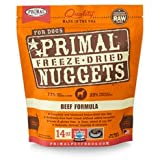 Primal Freeze-dried Beef Nuggets for Dogs 14oz - Pack of 4