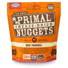 Primal Freeze-dried Beef Nuggets for Dogs 14oz - Pack of 4 by Primal