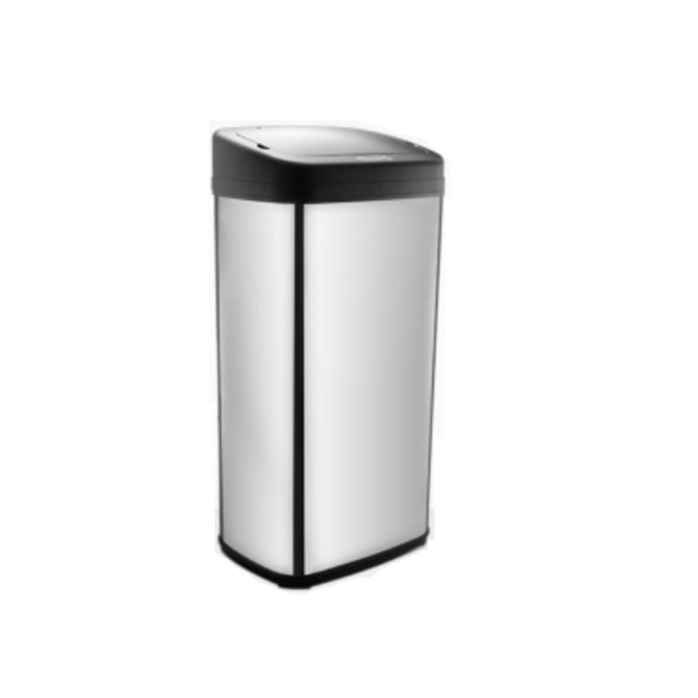 amazon L&LQGrand automatique poubelle de capteur intelligent hôtel commercial en acier inoxydable surdimensionné bureau maison cuisine poubelle , stainless steel 50l pas cher prix
