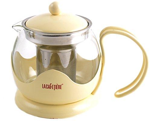 Teapot La Cafetiere - La Cafetiere 2-1/2-Cup Le Teapot, Cream