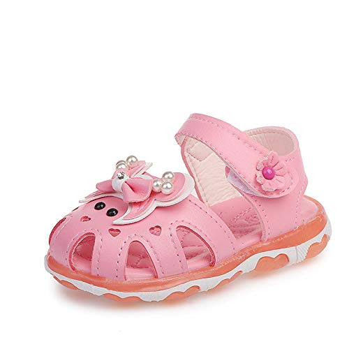 ZWEILI Korean Version of LED Shoes Smile Luminous Lightweight Breathable Baby -