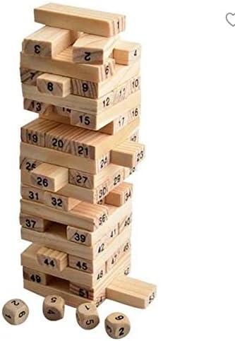 Bearony Pine Jenga Juguetes de Desarrollo Intelectual Puzzle Tumbler Building Blocks (Colorido): Amazon.es: Hogar