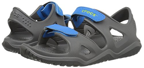 Crocs unisex-kids Swiftwater River Sandal Sandal, Slate Grey/Ocean, 2 M US Little Kid by Crocs (Image #6)
